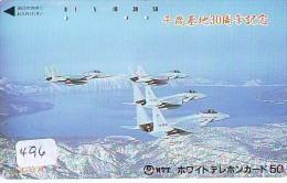 TELECARTE JAPON * MILITAIRY AVION  (496) Flugzeuge * Airplane * Aeroplanos * PHONECARD JAPAN * ARMEE * LEGER VLIEGTUIG - Flugzeuge