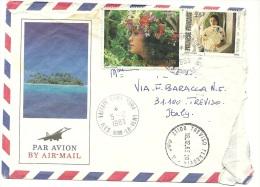 POLYNESIE FRANCAISE  Cover Send Italy Treviso  Nice Stamps 1983 - Polinesia Francese