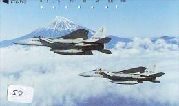 TELECARTE JAPON * MILITAIRY AVION  (521) Flugzeuge * Airplane * Aeroplano * PHONECARD JAPAN * ARMEE * LEGER VLIEGTUIG - Flugzeuge