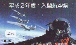 TELECARTE JAPON * MILITAIRY AVION  (522) Flugzeuge * Airplane * Aeroplano * PHONECARD JAPAN * ARMEE * LEGER VLIEGTUIG - Flugzeuge