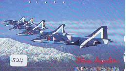 TELECARTE JAPON * MILITAIRY AVION  (524) Flugzeuge * Airplane * Aeroplano * PHONECARD JAPAN * ARMEE * LEGER VLIEGTUIG - Flugzeuge
