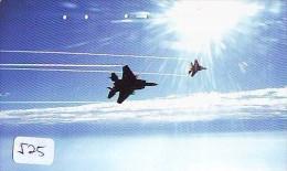 TELECARTE JAPON * MILITAIRY AVION  (525) Flugzeuge * Airplane * Aeroplano * PHONECARD JAPAN * ARMEE * LEGER VLIEGTUIG - Flugzeuge