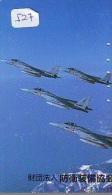 TELECARTE JAPON * MILITAIRY AVION  (527) Flugzeuge * Airplane * Aeroplano * PHONECARD JAPAN * ARMEE * LEGER VLIEGTUIG - Flugzeuge