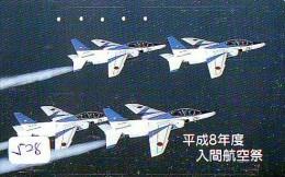 TELECARTE JAPON * MILITAIRY AVION  (528) Flugzeuge * Airplane * Aeroplano * PHONECARD JAPAN * ARMEE * LEGER VLIEGTUIG - Flugzeuge