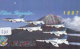TELECARTE JAPON * MILITAIRY AVION  (530) Flugzeuge * Airplane * Aeroplano * PHONECARD JAPAN * ARMEE * LEGER VLIEGTUIG - Flugzeuge