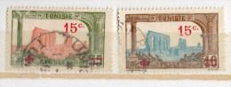 TUNISIE--Croix Rouge---Lot De 2  Timbres Oblitérés - Tunisia (1888-1955)