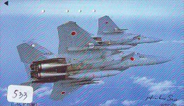 TELECARTE JAPON * MILITAIRY AVION  (533) Flugzeuge * Airplane * Aeroplano * PHONECARD JAPAN * ARMEE * LEGER VLIEGTUIG - Flugzeuge