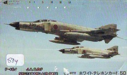 TELECARTE JAPON * MILITAIRY AVION  (534) Flugzeuge * Airplane * Aeroplano * PHONECARD JAPAN * ARMEE * LEGER VLIEGTUIG - Flugzeuge