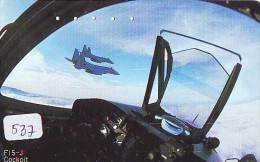 TELECARTE JAPON * MILITAIRY AVION  (537) Flugzeuge * Airplane * Aeroplano * PHONECARD JAPAN * ARMEE * LEGER VLIEGTUIG - Flugzeuge