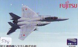 TELECARTE JAPON * MILITAIRY AVION  (538) Flugzeuge * Airplane * Aeroplano * PHONECARD JAPAN * ARMEE * LEGER VLIEGTUIG - Flugzeuge
