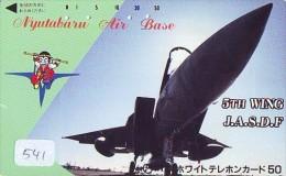 TELECARTE JAPON * MILITAIRY AVION  (541) Flugzeuge * Airplane * Aeroplano * PHONECARD JAPAN * ARMEE * LEGER VLIEGTUIG - Flugzeuge
