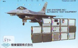 TELECARTE JAPON * MILITAIRY AVION  (542) Flugzeuge * Airplane * Aeroplano * PHONECARD JAPAN * ARMEE * LEGER VLIEGTUIG - Flugzeuge