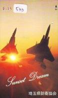 TELECARTE JAPON * MILITAIRY AVION  (543) Flugzeuge * Airplane * Aeroplano * PHONECARD JAPAN * ARMEE * LEGER VLIEGTUIG - Flugzeuge