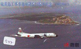 TELECARTE JAPON * MILITAIRY AVION  (547) Flugzeuge * Airplane * Aeroplano * PHONECARD JAPAN * ARMEE * LEGER VLIEGTUIG - Airplanes