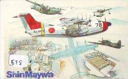 TELECARTE JAPON * MILITAIRY AVION  (548) Flugzeuge * Airplane * Aeroplano * PHONECARD JAPAN * ARMEE * LEGER VLIEGTUIG - Airplanes