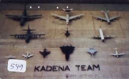 TELECARTE JAPON * MILITAIRY AVION  (549) Flugzeuge * Airplane * Aeroplano * PHONECARD JAPAN * ARMEE * LEGER VLIEGTUIG - Airplanes
