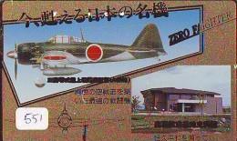 TELECARTE JAPON * MILITAIRY AVION  (551) Flugzeuge * Airplane * Aeroplano * PHONECARD JAPAN * ARMEE * LEGER VLIEGTUIG - Airplanes