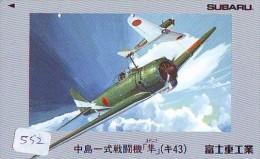 TELECARTE JAPON * MILITAIRY AVION  (552) Flugzeuge * Airplane * Aeroplano * PHONECARD JAPAN * ARMEE * LEGER VLIEGTUIG - Airplanes