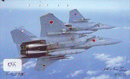 TELECARTE JAPON * MILITAIRY AVION  (555) Flugzeuge * Airplane * Aeroplano * PHONECARD JAPAN * ARMEE * LEGER VLIEGTUIG - Airplanes