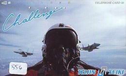 TELECARTE JAPON * MILITAIRY AVION  (556) Flugzeuge * Airplane * Aeroplano * PHONECARD JAPAN * ARMEE * LEGER VLIEGTUIG - Airplanes