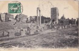 1685# SEMEUSE CARTE POSTALE ARLES THEATRE ROMAIN TAXE TARIF IMPRIME Obl ORANGE VAUCLUSE 1914 LUXEMBOURG VOIR TARIF - Marcophilie (Lettres)
