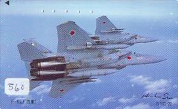 TELECARTE JAPON * MILITAIRY AVION  (560)  Flugzeuge * Airplane * Aeroplano * PHONECARD JAPAN * ARMEE * LEGER VLIEGRUIG - Airplanes