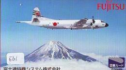 TELECARTE JAPON * MILITAIRY AVION  (561)  Flugzeuge * Airplane * Aeroplano * PHONECARD JAPAN * ARMEE * LEGER VLIEGRUIG - Airplanes