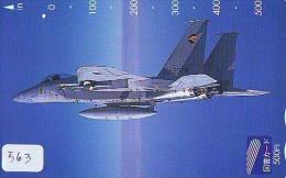 TELECARTE JAPON * MILITAIRY AVION  (563)  Flugzeuge * Airplane * Aeroplano * PHONECARD JAPAN * ARMEE * LEGER VLIEGRUIG - Airplanes