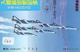 TELECARTE JAPON * MILITAIRY AVION  (564)  Flugzeuge * Airplane * Aeroplano * PHONECARD JAPAN * ARMEE * LEGER VLIEGRUIG - Airplanes