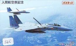 TELECARTE JAPON * MILITAIRY AVION  (565)  Flugzeuge * Airplane * Aeroplano * PHONECARD JAPAN * ARMEE * LEGER VLIEGRUIG - Airplanes