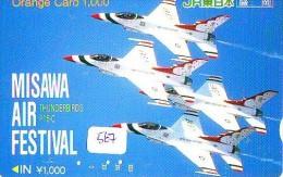 TELECARTE JAPON * MILITAIRY AVION  (567)  Flugzeuge * Airplane * Aeroplano * PHONECARD JAPAN * ARMEE * LEGER VLIEGRUIG - Flugzeuge