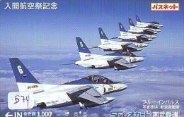 TELECARTE JAPON * MILITAIRY AVION  (574)  Flugzeuge * Airplane * Aeroplano * PHONECARD JAPAN * ARMEE * LEGER VLIEGRUIG - Vliegtuigen