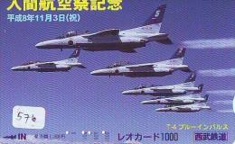 TELECARTE JAPON * MILITAIRY AVION  (576)  Flugzeuge * Airplane * Aeroplano * PHONECARD JAPAN * ARMEE * LEGER VLIEGRUIG - Vliegtuigen