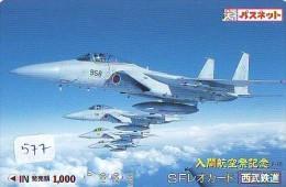 TELECARTE JAPON * MILITAIRY AVION  (577)  Flugzeuge * Airplane * Aeroplano * PHONECARD JAPAN * ARMEE * LEGER VLIEGRUIG - Vliegtuigen