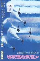 TELECARTE JAPON * MILITAIRY AVION  (578)  Flugzeuge * Airplane * Aeroplano * PHONECARD JAPAN * ARMEE * LEGER VLIEGRUIG - Vliegtuigen