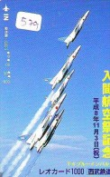 TELECARTE JAPON * MILITAIRY AVION  (579)  Flugzeuge * Airplane * Aeroplano * PHONECARD JAPAN * ARMEE * LEGER VLIEGRUIG - Vliegtuigen
