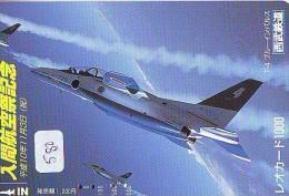 TELECARTE JAPON * MILITAIRY AVION  (580)  Flugzeuge * Airplane * Aeroplano * PHONECARD JAPAN * ARMEE * LEGER VLIEGRUIG - Vliegtuigen