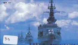 Phonecard JAPAN * War Ship (33) Boat Bateau Warship Military Ship Paquebot Navire De Guerre Boats Navy Leger Armee JAPON - Army
