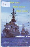 Phonecard JAPAN * War Ship (43) Boat Bateau Warship Military Ship Paquebot Navire De Guerre Boats Navy Leger Armee JAPON - Armée