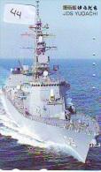Phonecard JAPAN * War Ship (44) Boat Bateau Warship Military Ship Paquebot Navire De Guerre Boats Navy Leger Armee JAPON - Armée