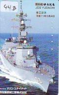 Phonecard JAPAN  War Ship (44B) Boat Bateau Warship Military Ship Paquebot Navire De Guerre Boats Navy Leger Armee JAPON - Armee