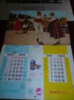 CB10LC148 Calendrier 1958 Thème Expo 1958 Magasins Adolphe Delaize Le Lion Avec Partition Chanson Delhaize - Calendriers