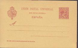 Spain UPU Postal Stationery Ganzsache Entero 10 Cts Alfons XIII. (P 26 II) 3. Punktlinie 72 Mm (2 Scans) - Ganzsachen