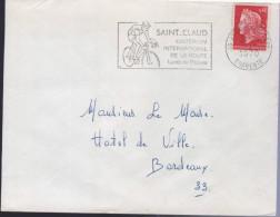 """Lettre Cycliste Flamme 16 Angoulème Gare 15-1 1970 =o """"Saint-Claud Critérium International De La Route... - Ciclismo"""