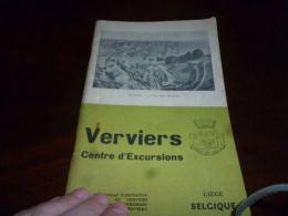 CB10 LC148 Plaquette Verviers Centre D'excursions Années 30 ? Pub Photos Promenades Chocolat Jacques - Ohne Zuordnung