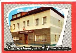 HOXTER Cp Deux Volets Hotel Braunschweiger Hof Avec 4  Scanns - Hoexter