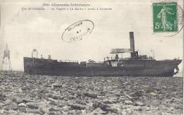 Cp 17 ILE D´OLERON Le Vapeur LE MERLIN Perdu à Antioche ( CACHET Souvenir De CHASSIRON ) Bateau Phare - Ile D'Oléron