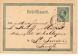 Bk G10  Schoonhoven - St. Imier Suisse 17 JUN 77 - Postal Stationery