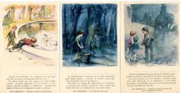 "Lot 3 Cartes Postales Poulbot "" Les Misérables V.Hugo"" - Poulbot, F."