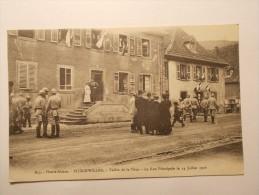 Carte Postale - BITSCHWILLER (68) - La Rue Principale Le 14 Juillet 1916 (25/50) - Frankreich